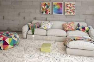 沙发卧室、靠枕、地毯、【模型】