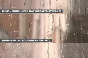 4K 动态雨滴纹理贴图【贴图】