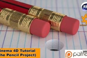 C4D & OC渲染一个漂亮的铅笔【教程】