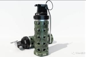 C4D 模型:手榴弹模型 眩晕手榴弹