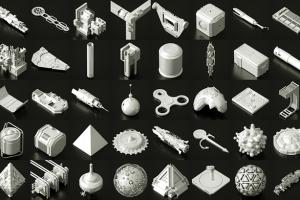 281个人体模型、石头、岩石、科幻附件、机械零件模型合集(.obj)Asset Pack【模型】【高级群】
