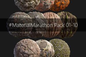 30种PBR岩石,木材和地面材料【高级群】