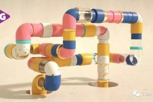 利用C4D & OCteane渲染器,制作一个无限循环的管道【教程】