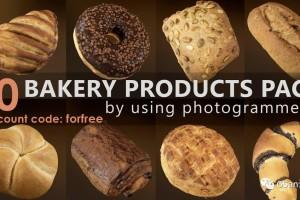 C4D模型面包 食物 甜甜圈 巧克力面包【模型】