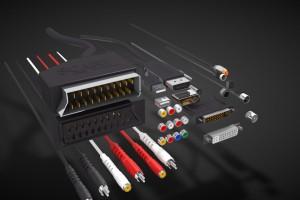 C4D模型 电视音频线 电视视频线 USB线 HDMI接口 电脑数据线接头【模型】