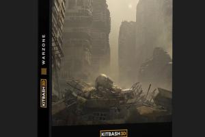 Kitbash3D - WARZONE-战区-旧房屋 损坏房屋 破坏建筑【模型】