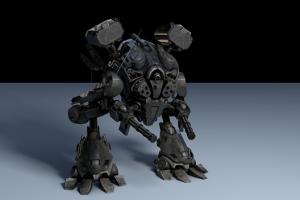C4D模型  机甲机战斗器人模型 未来机器人【模型】