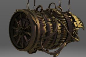 C4D模型 飞机引擎器 飞机发动机【模型】