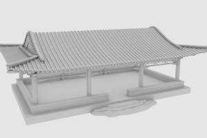 C4D模型  古代庭院模型 古代房屋模型 【模型】