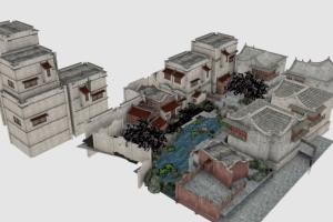 C4D模型 小庭院模型 院子模型 房屋模型【模型】