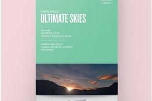 GSG的ULTIMATE SKLES 4K 天空纹理【贴图】
