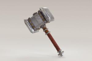 C4D模型  锤子模型 游戏锤子 雷神之锤【模型】