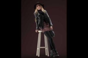 3D模型 吧台凳的女人 8K贴图【模型】
