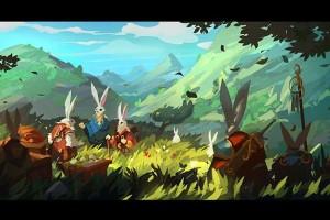PS 森林兔子绘画 场景绘画【教程】