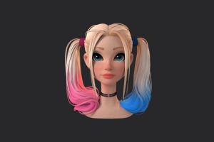 ZBrus小丑女角色头发雕刻实例制作视频教程 RRCG【教程】