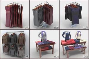 三维模型 24款商场衣服摆放模型 MAX模型 贴图 布料衣服DigitalXModels - Volume 29 Cloths【模型】
