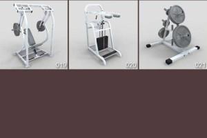 三维模型 21个健身器材模型 杠铃模型 【模型】
