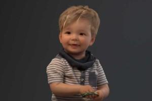 3D站立的可爱小男孩模型 牛仔裤 时尚小男孩 8K贴图【模型】