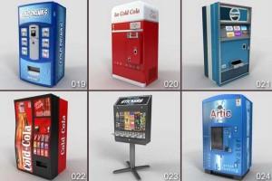 24个自动售卖机 可乐售卖机 ATM机 【模型】