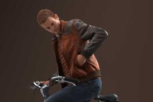 骑自行车的年轻人模型 8K贴图【模型】