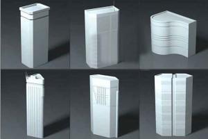 20个低面城市建筑高楼白模合集 Akira Building Pack【模型】