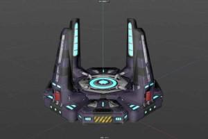 科幻系列---星际传送门 次时代科幻游戏道具 科幻模型