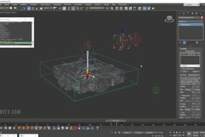 3DMax制作火箭发射火焰教程【Rocket Launch Beginner FX Course by RedefineFX】