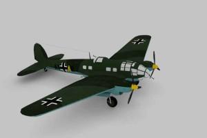二战轰炸机 模型+ 贴图【Plane Heinkel 】