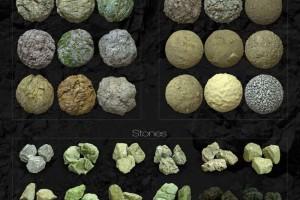 众多 石头 沙土 材质 模型【RDT Collection 6】