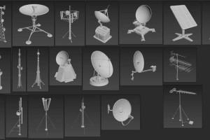 10个电视型号接收器发射塔模型【Artstation - Antennas part 1 - 20 pieces by Armen Manukyan】