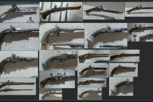 200张 3K 古代枪支 古董枪 图片素材【Antique Firearms】