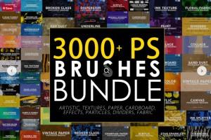 3000个PS笔刷【Creative Market - 3000 Photoshop Stamp Brushes Bundle 5657270】