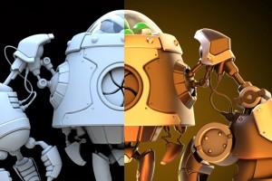 在Maya 2020中对机器人进行建模和渲染【Udemy - Creating a Cartoon Octopus Monster in Maya 2020】