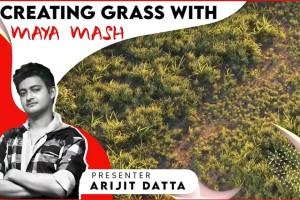 Maya真实草地制作教程 【Skillshare – Maya Mash Creating Realistic Grass Like a Pro】