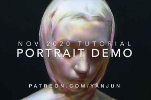 人物绘画教程【Gumroad-Portrait-Painting-Tutorial-with-Audio-by-Yanjun-Cheng】【免费】