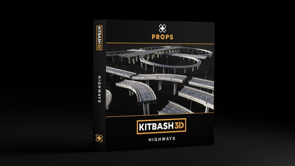 Kitbash3d_PROPS: HIGHWAYS(立交桥)高架桥模型