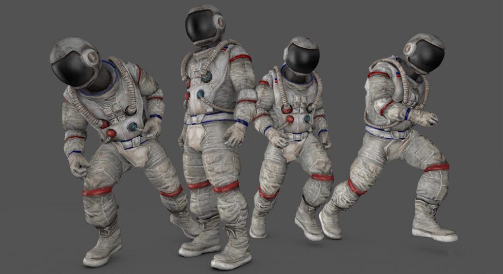 C4D模型 6套宇航员C4D绑定动画模型 astronauta 3d model【模型】【高级群】