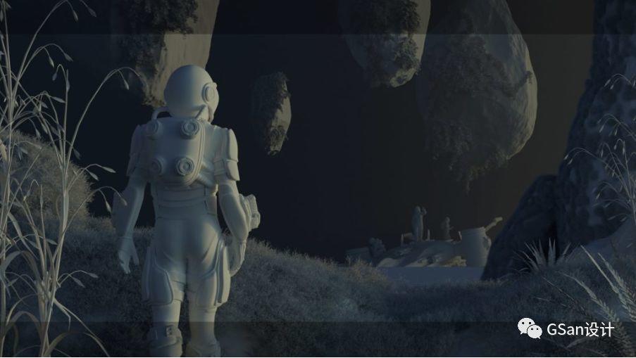 在Cinema 4D中创建科幻插图