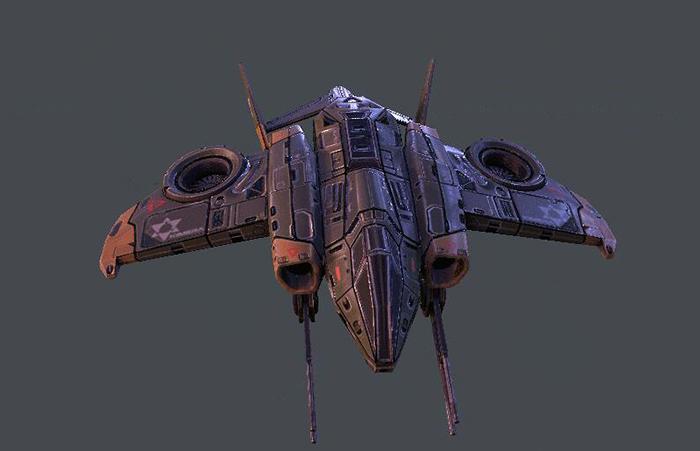 C4D模型 次时代 科幻战斗机3D模型 C4D FBX 【模型】