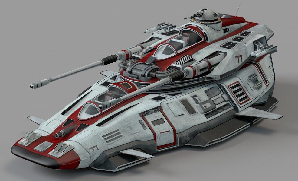 C4D模型 太空战车科幻车 太空飞船 科幻飞船【模型】