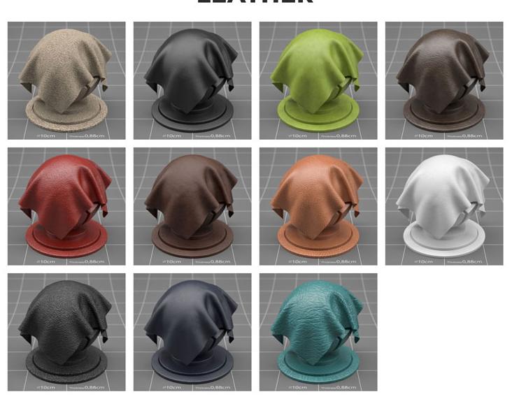163组C4D Redshift渲染器4K材质预设包V3【RS材质】