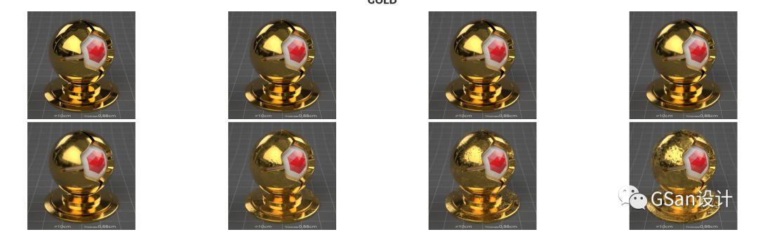 260种4K C4D Redshift渲染器金属材质包【RS材质预设】
