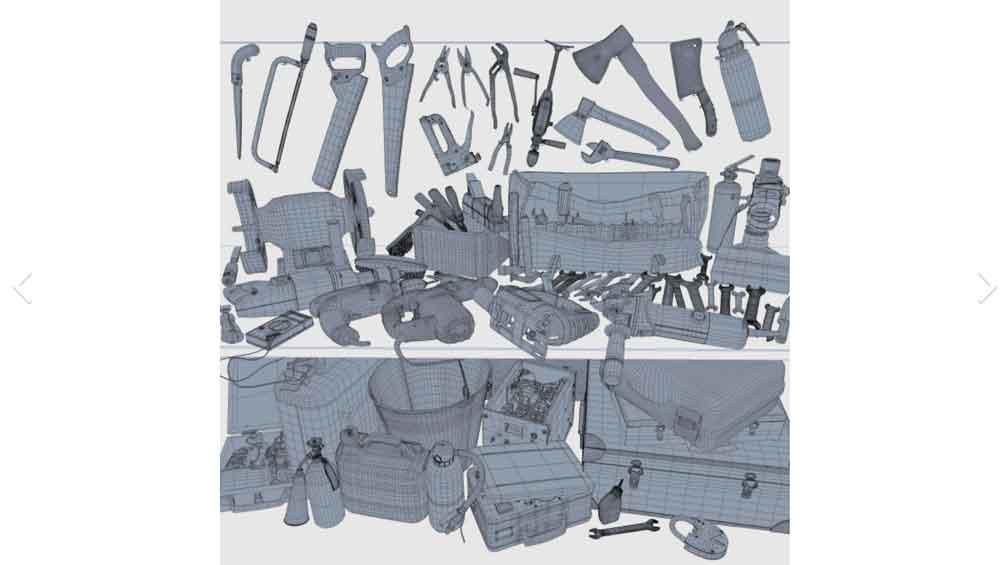 众多旧工具模型【Collection old tools PBR-Scans】
