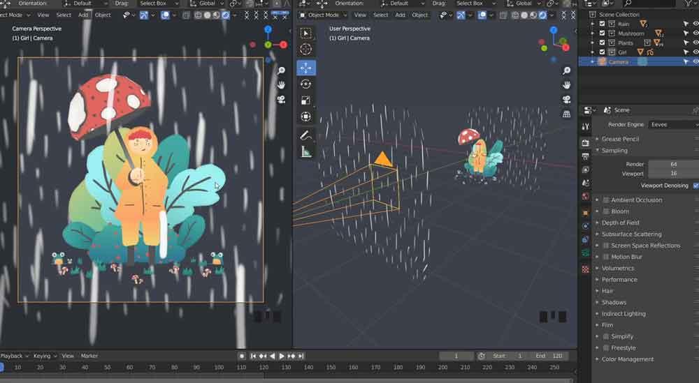 Blender制作绘画卡通教程【Skillshare - Bring Your Illustrations to Life with Blender 3D】【免费】