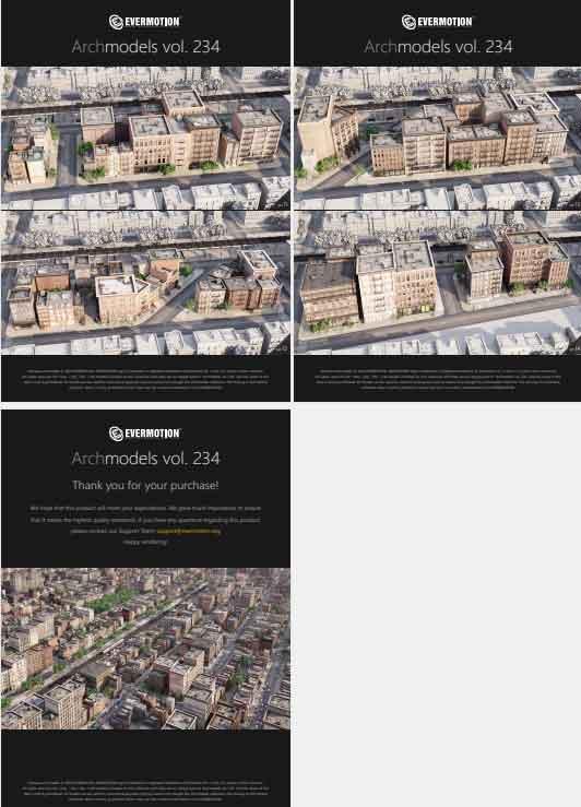 众多楼房 房屋模型【Vol_234 (Edificios americanos)】